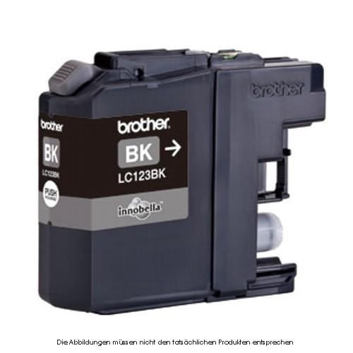 BROTHER LC123BK Tinte schwarz 600Seiten