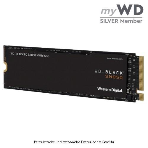 WD Black SN850 NVMe WDS500G1X0E 500GB PCIe 4.0