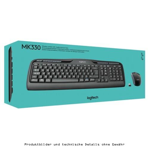 Logitech Cordless Desktop MK330 black