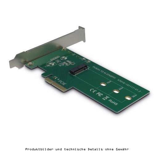 Adaptercard PCIe 4x zu M.2 für 1xSSD