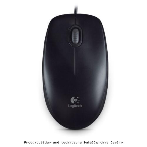 Logitech B100 optische Maus black USB