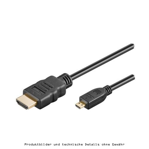 HDMI auf HDMI micro St/St Kabel 1,5m