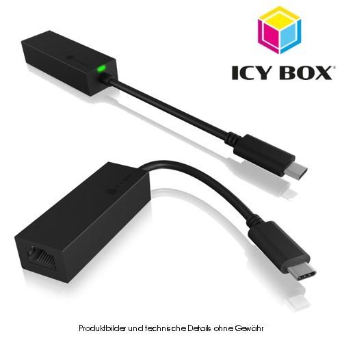 Icy Box USB 3.0 Typ C - Gigabit LAN RJ45