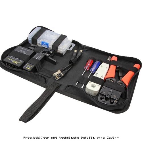 LogiLink Netzwerk Werkzeug Set mit Tasc