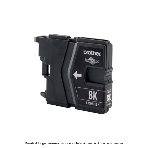 Brother Patrone LC985BK Tinte schwarz