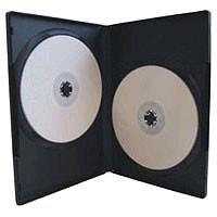 DVD-Hülle 2fach schwarz 1Stück