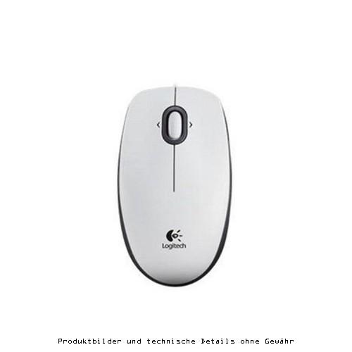 Logitech B100 optische Maus weiß USB