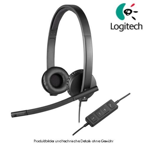 Logitech Stereo Headset H570e USB schwarz