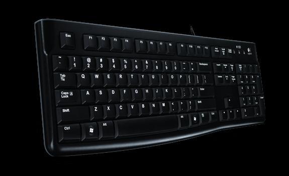 Logitech K120 Corded Keyboard USB black