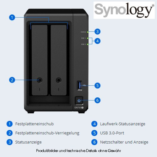 Synology DS720+ 2BAY 2.0 GHZ QC 2X GBE