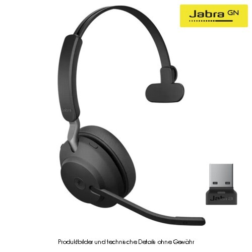 JABRA EVOLVE2 65 UC Mono Black, Bluetooth, USB-A
