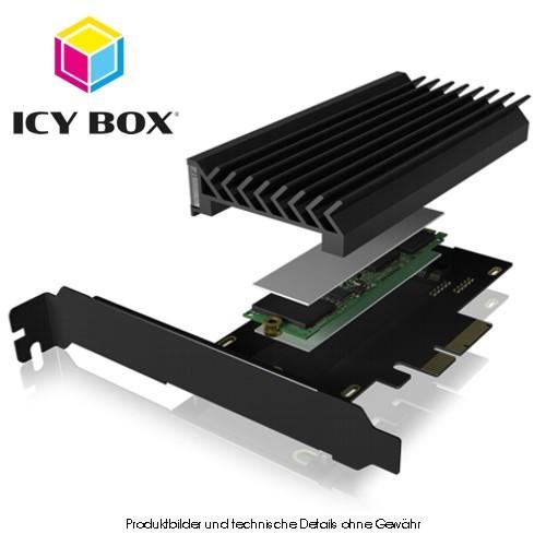 Icy Box PCIe 4.0 x4-Karte fuer M.2 NVMe SSD