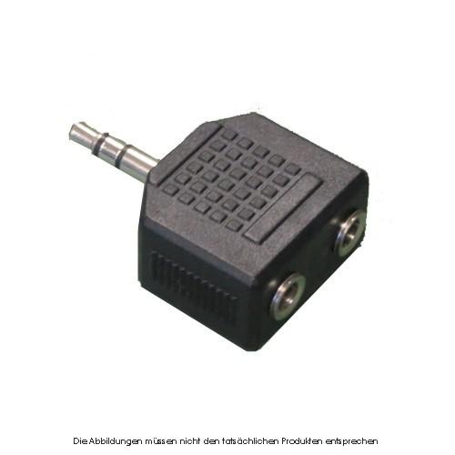 Audio Y Adapter 1 x Stecker / 2 x Buchse