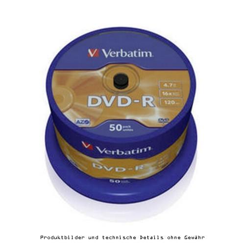 Verbatim DVD-R 4,7GB 50er Spindel 16x