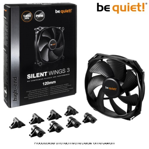 BE QUIET SilentWings 3 120mm PWM (4Pin)