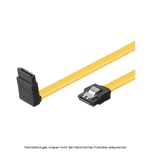 S-ATA 6Gb/s Flachkabel 0,5m 90gewinkelt