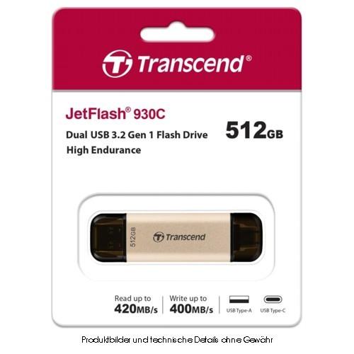 Transcend JetFlash 930C 512GB USB 3.2 Gen 1