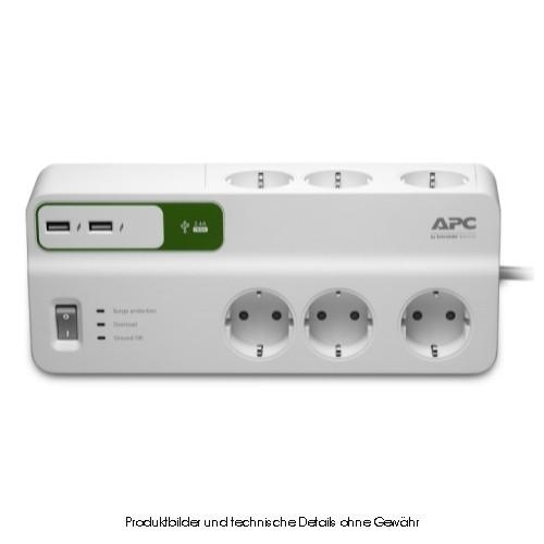 APC SurgeProtector PM6U-GR 6-fach