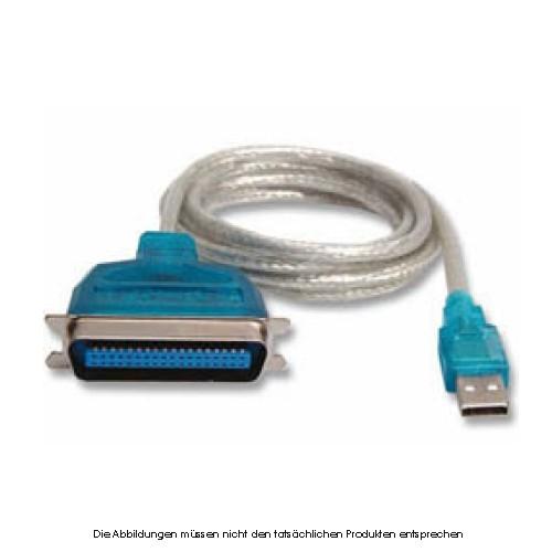 USB Konverter USB a. Parallel 1,8m Kabel