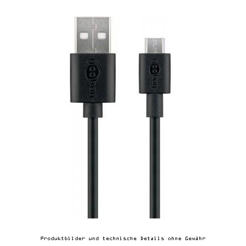 USB 2.0 Schnellladekabel A St.- MicroB St.