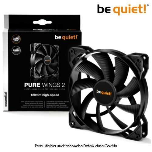 Be Quiet! Pure Wings2 120mm PWM - bis 2000Upm