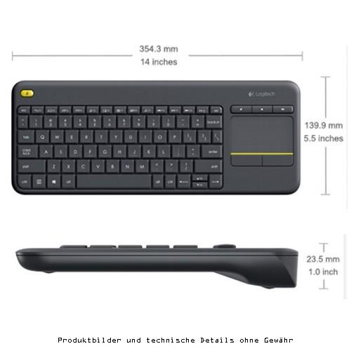 Logitech K400Plus cordless TouchKeyboard