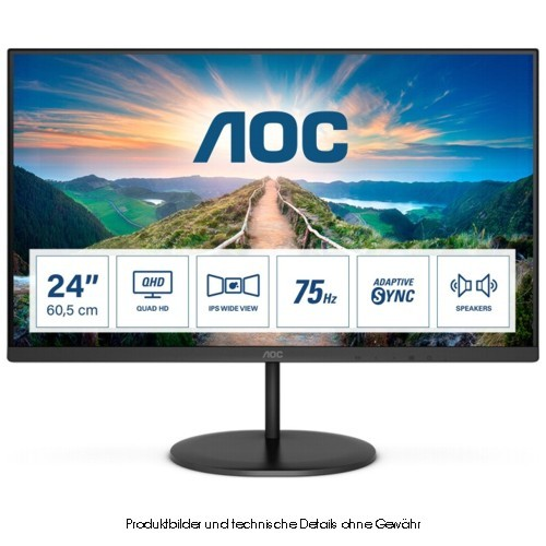 68,6cm (27'') AOC Q27V4 QHD, IPS, HDMI, DP
