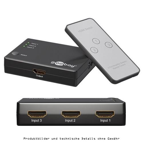 Goobay HDMI Umschaltbox, 3in / 1out