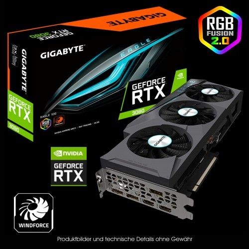 Gigabyte GF RTX 3080 Eagle 10G (Rev.2.0) (LHR), 10GB