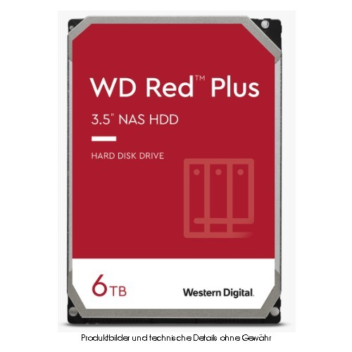 WD Red Plus WD60EFRX 6TB SATA 6Gb/s SOHO-NAS CMR