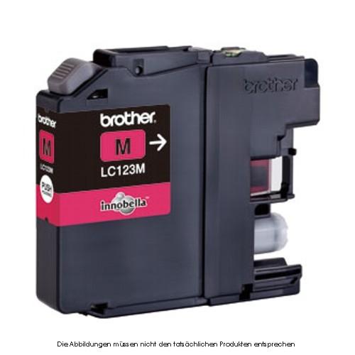 BROTHER LC123M Tinte magenta 600Seiten