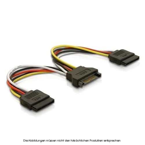 Stromadapter S-ATA -- 2xS-ATA
